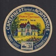 Etiquette De Fromage (petit) Camembert  -  Domaine Des Parcs Creviers  -  Hardy Loriot   Le Renouard  (61) - Fromage
