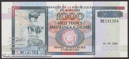 TWN - BURUNDI 39c - 1000 1.000 Francs 1.7.2000 Prefix BE UNC - Burundi