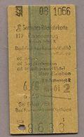 BRD - Pappfahrkarte (DR) - Erfurt - Bad Frankenhausen Von 1966 - Bahn