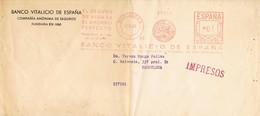 30548. Carta Impresos BARCELONA 1948. Franqueo Mecanico BANCO VITALICIO España - 1931-Aujourd'hui: II. République - ....Juan Carlos I
