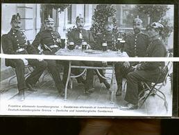 LUXEMBOURG SOLDATS ET ALLEMANDS FRONTIERE 1911          JLM - Postcards