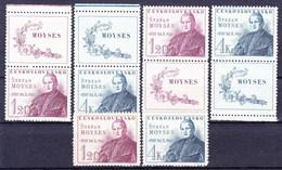 ** Tchécoslovaquie 1947 Mi 525-6+ Zf (Yv 451-2+ Vignettes), (MNH) - Tschechoslowakei/CSSR