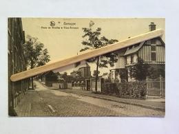 GENAPPE Nº 14»ROUTE DE NIVELLES À VIEUX - GENAPPE «Panorama,animée,cycliste(1933)E.P.Dohet-Baude NELS - Genappe