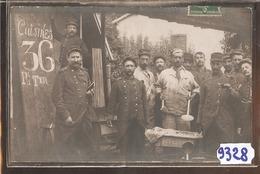 9328   AK PC CARTE PHOTO MILITAIRE CUISINE DU 36 REGIMENT TER - Regiments