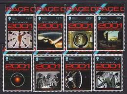 Isle Of Man 2018 Cinema A Space Odyssey 8v MNH - Space