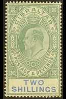 1904-08 2s Green & Blue, SG 62, Fine Mint For More Images, Please Visit Http://www.sandafayre.com/itemdetails.aspx?s=625 - Gibraltar