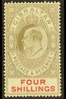 1906-11 4s Black & Carmine, SG 73, Fine Mint For More Images, Please Visit Http://www.sandafayre.com/itemdetails.aspx?s= - Gibraltar