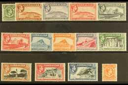 1938-51 Pictorial Definitive Set, SG 121/31, Very Fine Lightly Hinged Mint (14 Stamps) For More Images, Please Visit Htt - Gibraltar