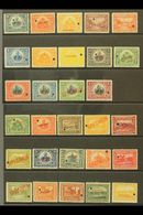 1906-1913 SPECIMEN OVERPRINTS. 1906-13, 1906-10 & 1910 Pictorials Complete Sets (Scott 125/44, 145/49 & 162/65, SG 132/4 - Haiti