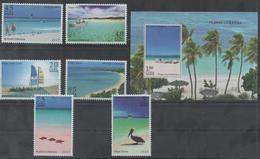 TOURISM, 2017, MNH, BEACHES, BOATS, BIRDS, PELICANS, STARFISH, SAILING, 6v+S/SHEET - Other