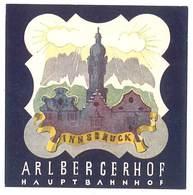 étiquette D'Hôtel / Bagages, Valise : Arlbergerhof Innsbruck - Etiquettes D'hotels