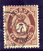 NORWAY 1873 Posthorn 7 Sk. Used. Michel 21 - Used Stamps