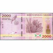 TWN - BURUNDI 52 - 2000 2.000 Francs 15.1.2015 Prefix CA UNC - Burundi