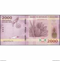 TWN - BURUNDI 52 - 2000 2.000 Francs 15.1.2015 Prefix CB UNC - Burundi