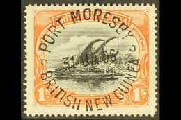 1901-05 1s Black And Orange Lakatoi, SG 7, Superb Full Upright Port Moresby 31 Jan 1906 Cds. For More Images, Please Vis - Papua New Guinea