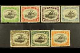 1909-10 Lakatoi Watermark Sideways, Perf 11 Set, SG 59/65, Fine Mint. (7) For More Images, Please Visit Http://www.sanda - Papua New Guinea