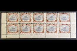1916-31 1½d Cobalt And Light Brown, SG 95b, A.J. MULLETT INSCRIPTION BLOCK OF TEN (bottom Two Rows Of Sheet), Including  - Papua New Guinea