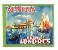 étiquette D'Hôtel / Bagages, Valise : Venezia , Hotel De Londres - Etiquettes D'hotels