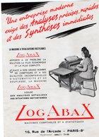 VP13.381- Pub - Informatique - Société LogAbax à PARIS Rue De L'Arcade - La Machine A Totalisateurs Rectilignes - Publicités