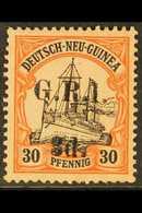 AUSTRALIAN OCCUPATION 1914-15 (German New Guinea Surcharged) 3d On 30pf Black & Orange/buff, SG 8, Fine Mint For More Im - Papua New Guinea