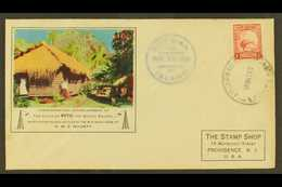 """1938 Illustrated """"PITC"""" Radio Cover To USA, Bearing 1d Kiwi Of New Zealand Tied By """"PITCAIRN ISLAND"""" Cds Cancel Of 18 MR - Stamps"""