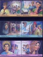 Malaysia 2014 S#1514-1516 Malay Folk Stories MNH Flora Fauna Rose Bird Cave Ship Military Weapon Archer - Malaysia (1964-...)