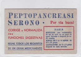 PEPTOPANCREASI SERONO. NORMALIZA FUNCIONES DIGESTIVAS. PAPEL SECANTE. CIRCA 1930s- BLEUP - Drogisterij En Apotheek