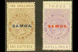 "1925-28 2s6d Deep Grey Brown & 3s Mauve ""Postal Fiscal"" Overprinted ""SAMOA"", SG 166/66a, Fine Mint (2 Stamps) For More I - Samoa"