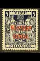 1945 - 1953 £5 Indigo Blue Postal Fiscal, On Wiggins Teape Paper, SG 214, Very Fine Used. Scarce And Attractive Stamp. F - Samoa