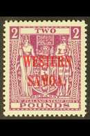1947 £2 Bright Purple Postal Fiscal, SG 212, Very Fine Mint For More Images, Please Visit Http://www.sandafayre.com/item - Samoa