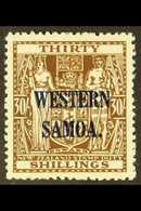 1948 30s Brown Postal Fiscal, SG 211, Very Fine Mint For More Images, Please Visit Http://www.sandafayre.com/itemdetails - Samoa
