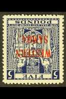 1953 £5 Indigo Blue, INVERTED WATERMARK, SG 214w, Fine Mint For More Images, Please Visit Http://www.sandafayre.com/item - Samoa