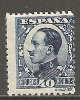 ESPAGNE - Yv. N° 410  *  40c  Bleu Foncé, Type II  Alphonse XIII Cote 23 Euro BE   2 Scans - 1889-1931 Kingdom: Alphonse XIII