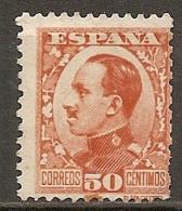 ESPAGNE - Yv. N° 411  (o)  50c    Alphonse XIII Cote 2 Euro BE R  2 Scans - 1889-1931 Kingdom: Alphonse XIII