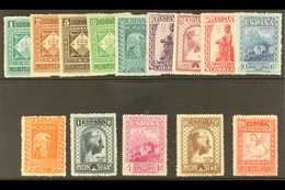 """1931 Montserrat Monastery Perf 14 Special Printingcomplete Postage Set And Express Stamp With """"A000,000"""" (SPECIMEN) Con - Spain"""