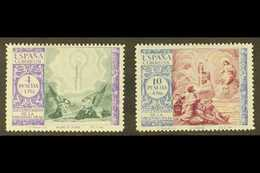 1940 4p & 10p Virgin Of El Pilar Postage Unissued COLOUR CHANGES Both With '000,000' (SPECIMEN) Control Figures On Back, - Spain