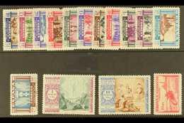 1940 Virgin Of El Pilar Complete Postage Set And Express Stamp All With '000,000' (SPECIMEN) Control Figures On Back, Ed - Spain