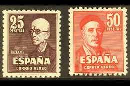 1947 Air Falla & Zuloaga Complete Setwith 'A000,000' (SPECIMEN) Control Figures On Back, Edifil 1015N/16N (as Michel 94 - Spain
