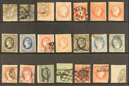 PHILIPPINES 1854-1874 SELECTION From An Old Collection On A Stock Card, Includes 1854 10c (four Margins, Good Condition, - Spain