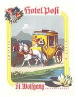 étiquette D'Hôtel / Bagages, Valise :  Hotel Poft St Wolfgang , Salzkammergut , Austria - Etiquettes D'hotels