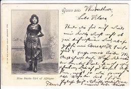 GRUSS AUS WINTERTHUR - ILLUSTRATION- AFRIQUE - DOS UNIQUE - 1.05.1899 !!! - ZH Zurich