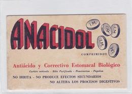 ANACIDOL, ANTIACIDO Y CORRECTIVO ESTOMACAL BIOLOGICO. PAPEL SECANTE. CIRCA 1930s- BLEUP - Produits Pharmaceutiques