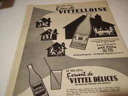 ANCIENNE PUBLICITE FERU DE  EAU VITTELLOISE  1955 - Affiches