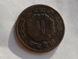 Nepal  5  Paisa 1966  Vs 2023     Km# 758 A  Mahendra  Bir Bikram    Bronze  TTB - Népal
