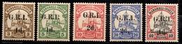 Marshall Colonie Allemande Occupation Anglaise Michel N° 1, 2, 3, 4 Et 7 Neufs *. Signés Bühler. B/TB - Colony: Marshall Islands