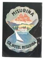 étiquette D'Hôtel / Bagages, Valise : Misurina Gr. Hotel Misurina - Hotel Labels
