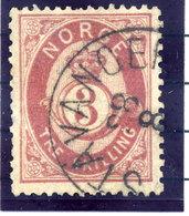 NORWAY 1875 Posthorn 3 Sk.  Used. Michel 18b - Norway