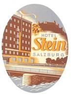 étiquette D'Hôtel / Bagages, Valise : Hotel Stein Salzbourg - Etiquettes D'hotels