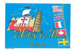 étiquette D'Hôtel / Bagages, Valise : Hotel De La Pace , Pisa ( Italie, Tour De Pise ) - Etiquettes D'hotels