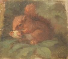 Un écureuil. Peinture Sur Toile. - Gouaches